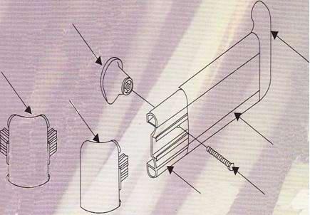 医院防撞扶手安装说明-立体组装图示