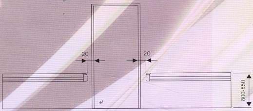 医院防撞扶手安装说明-立面图示