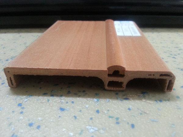 木塑地板侧面
